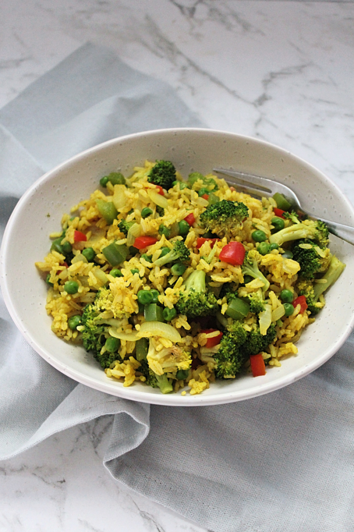 Easy Curried Fried Rice with Vegetables
