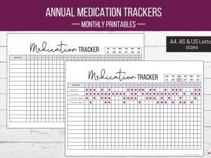 Monthly Medication Tracker