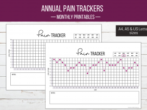 Monthly Pain Trackers