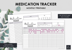 LiveMinimalPlanners Medication Tracker V2