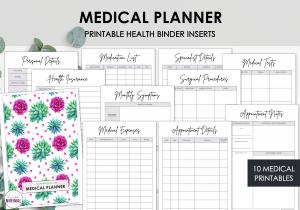 LiveMinimalPlanners Medical PlannerPINKGREENCACTUS