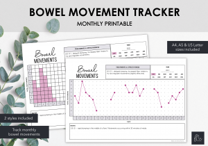 LiveMinimalPlanners Bowel Movement Tracker