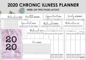 LiveMinimalPlanners Chronci Illness Planner PINKWO2P