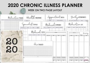 LiveMinimalPlanners Chronic Illness Planner BROWNWO2P