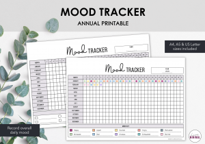 LiveMinimalPlanners Mood Tracker