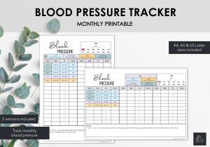 LiveMinimalPlanners Blood Pressure Tracker