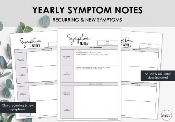 LiveMinimalPlanners Symptom Notes Listing Photos 1