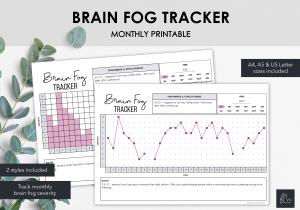 LiveMinimalPlanners Brain Fog Tracker