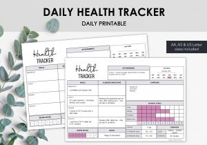 LiveMinimalPlanners Daily Health Tracker