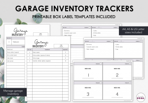 LiveMinimalPlanners Garage Inventory Tracker
