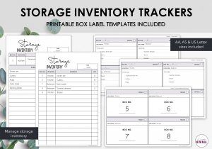 LiveMinimalPlanners Storage Inventory Tracker