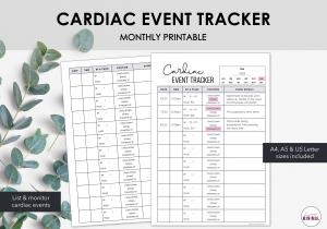 LiveMinimalPlanners Cardiac Event Tracker