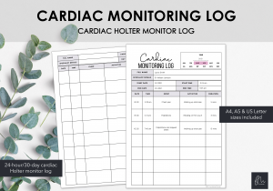 LiveMinimalPlanners Cardiac Monitoring Log