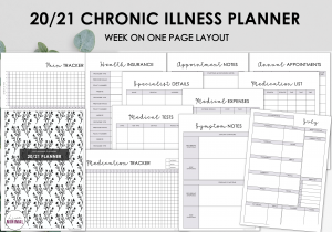 LiveMinimalPlanners Chronic Illness Planner BOTANICAL