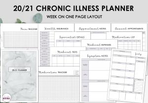 LiveMinimalPlanners Chronic Illness Planner GREYMARBLE