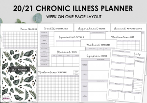 LiveMinimalPlanners Chronic Illness Planner TROPICALGREEN