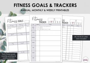 LiveMinimalPlanners Fitness Tracker