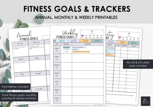LiveMinimalPlanners Fitness Goals and Trackers