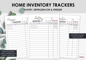 LiveMinimalPlanners Home Inventory Tracker