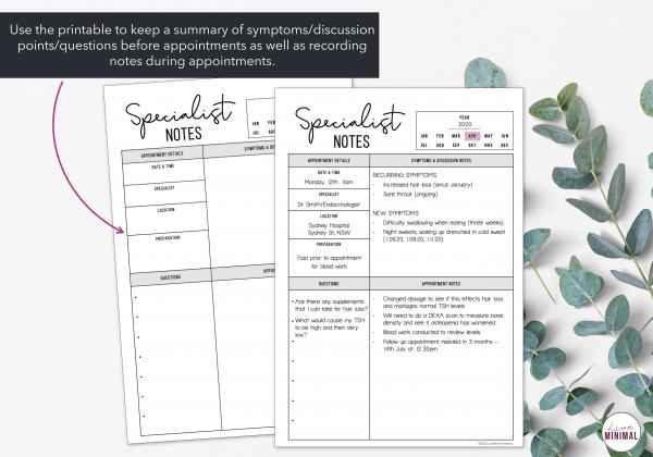 LiveMinimalPlanners Specialist Notes