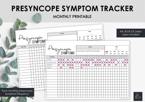 LiveMinimalPlanners Presyncope Symptom Tracker