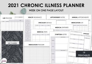 LiveMinimalPlanners Chronic Illness Planner BOLDFLORAL