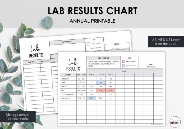 LiveMinimalPlanners Lab Results Chart