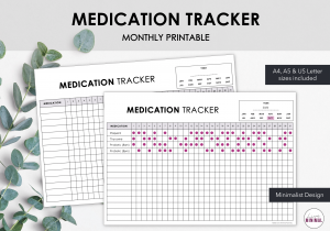LiveMinimalPlanners Medication Tracker