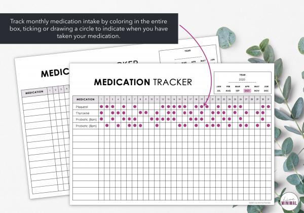 LiveMinimalPlanners Medication Tracker
