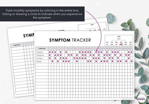 LiveMinimalPlanners Symptom Tracker