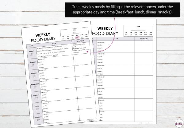Minimalist Food & Symptoms tracker