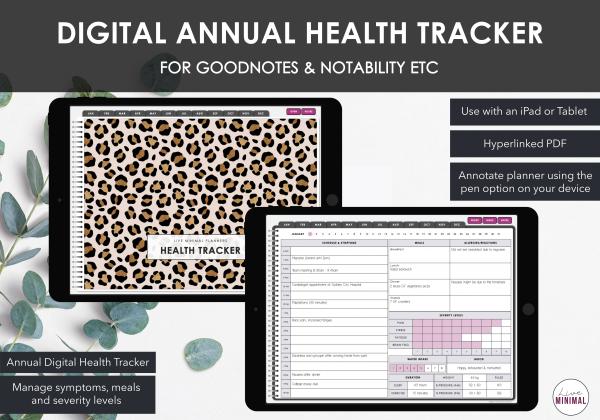 LiveMinimalPlanners Digital Daily Health Tracker 1-1
