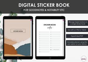 LiveMinimalPlanners Digital StickerBook Listing Photo