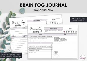 LiveMinimalPlanners Brain Fog Journal Listing Photos 1-1