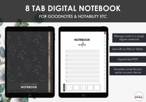 LiveMinimalPlanners Digital NotebookDots Listing Photos 1