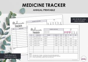 LiveMinimalPlanners Medicine Tracker