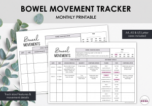 LiveMinimalPlanners Bowel Movement Tracker