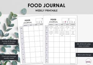 Minimalist Food Journal