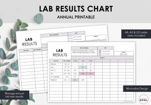 LiveMinimalPlanners Minimalist Lab Results Chart