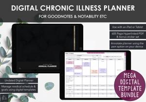 LiveMinimalPlanners Digital Chronic Illness Planner