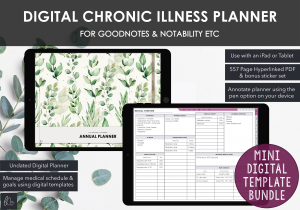 LiveMinimalPlanners Digital Chronic Illness Planner