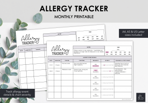 LiveMinimalPlanners Allergy Tracker