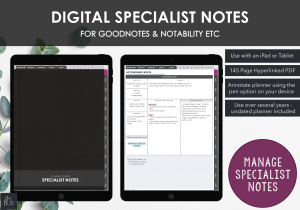LiveMinimalPlanners Digital Specialist Notes Planner