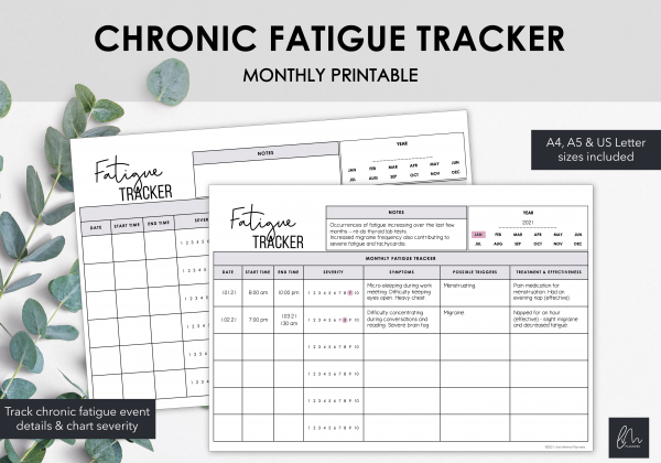 LiveMinimalPlanners Fatigue Tracker