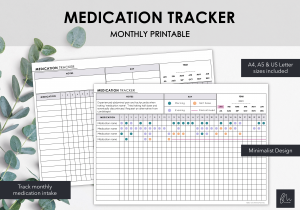 LiveMinimalPlanners Medication Tracker-1