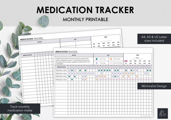 LiveMinimalPlanners Medication Tracker-1