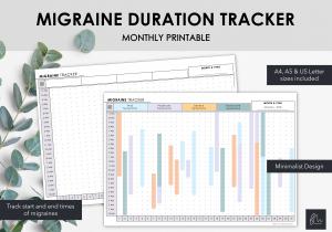 LiveMinimalPlanners Migraine Duration Tracker