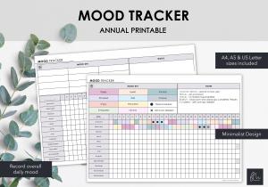 LiveMinimalPlanners Minimalist Mood Tracker