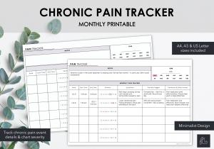 LiveMinimalPlanners Pain Tracker