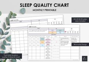 LiveMinimalPlanners Sleep Quality Chart